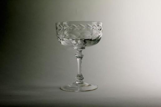 WMF Sektschalen Glas Bleikristall Originalschliff Vintage Unused